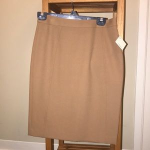 Halogen taupe/beige pencil skirt NWT